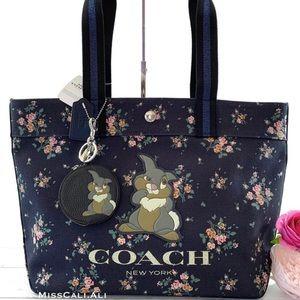 NWT COACH X Disney Limited Edition Thumper Tote Bag & Coin Bag Set